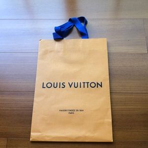 Louis Vuitton shopping paper bag